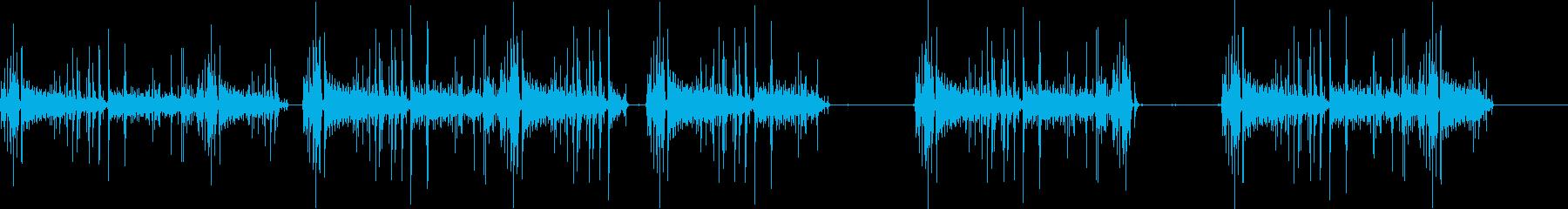 静的コンピューターの再生済みの波形
