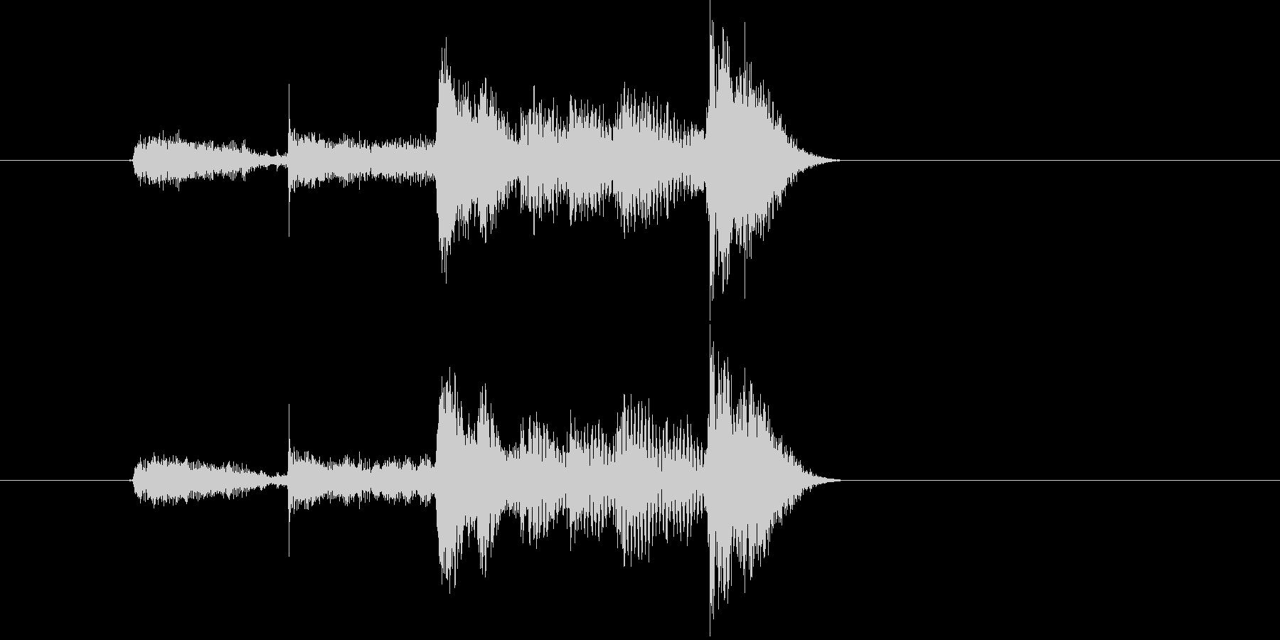 カウントするボイス音(バンド、短い)の未再生の波形