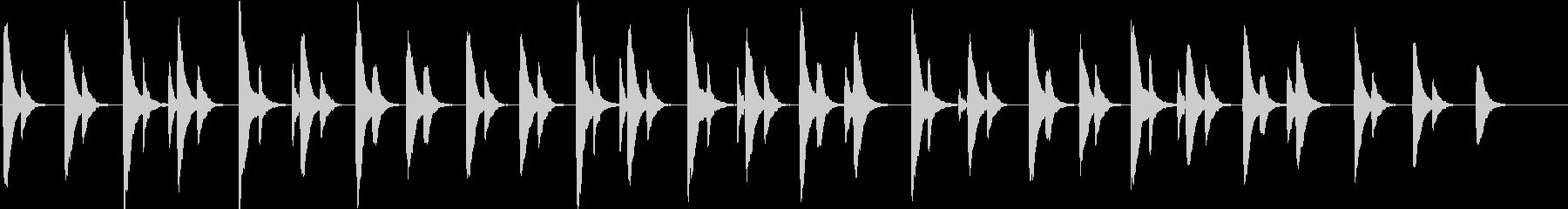 マリンバを使用した穏やかなアンビエントの未再生の波形