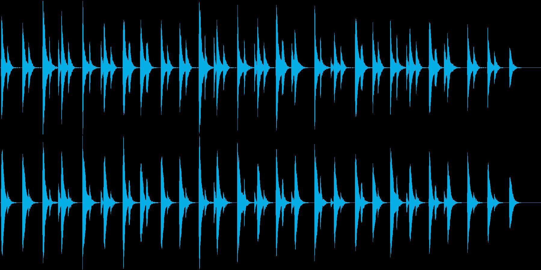 マリンバを使用した穏やかなアンビエントの再生済みの波形