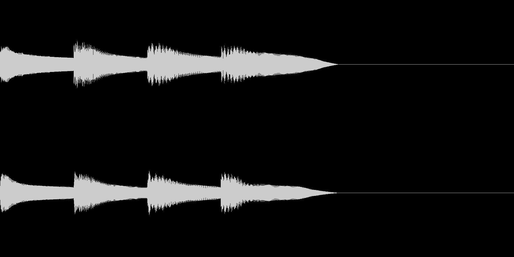 ピンポンパンポン 木琴 早い下降の未再生の波形