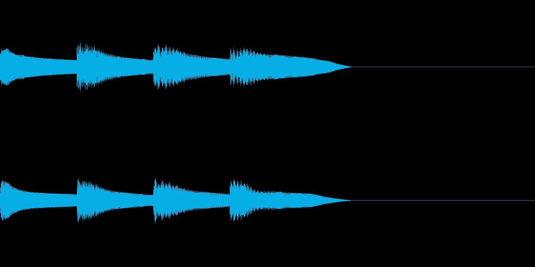 ピンポンパンポン 木琴 早い下降の再生済みの波形