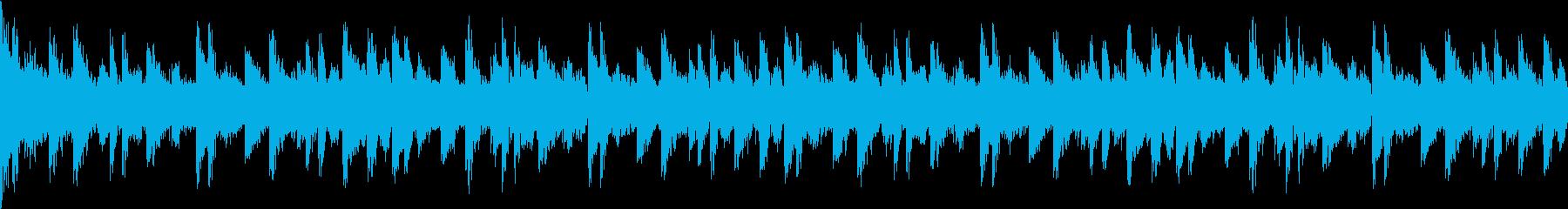 不安な気分のHIPHOPの再生済みの波形