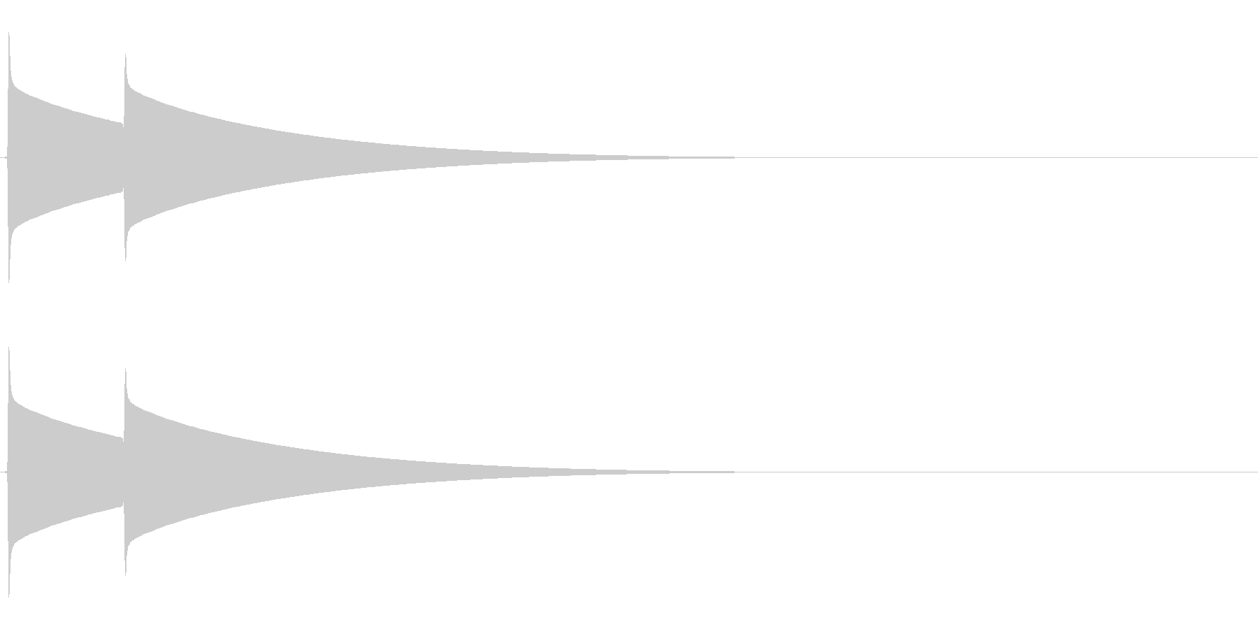 ピンポーン(チャイム、正解)の未再生の波形