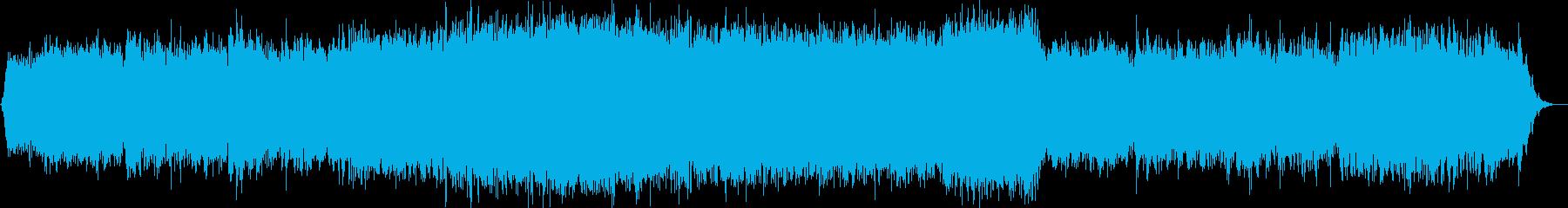 夜光虫を主題とするヒーリング空間音楽の再生済みの波形