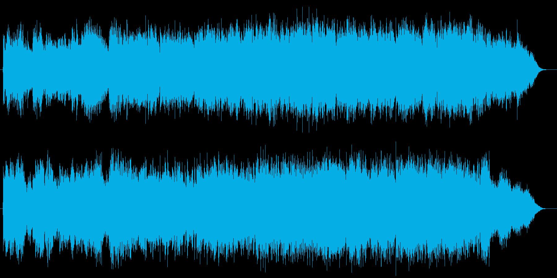 生演奏フルートがゆったりと優しいBGMの再生済みの波形