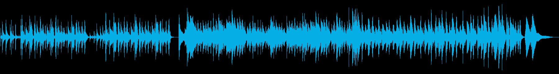 リズム感のあるパーカッシブなジャズの再生済みの波形