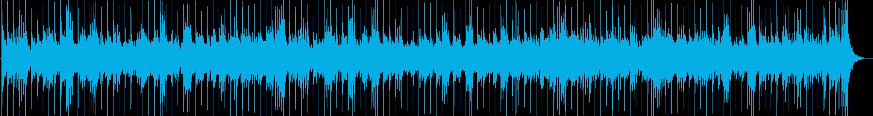レイドバックしたカントリー系ロックの再生済みの波形