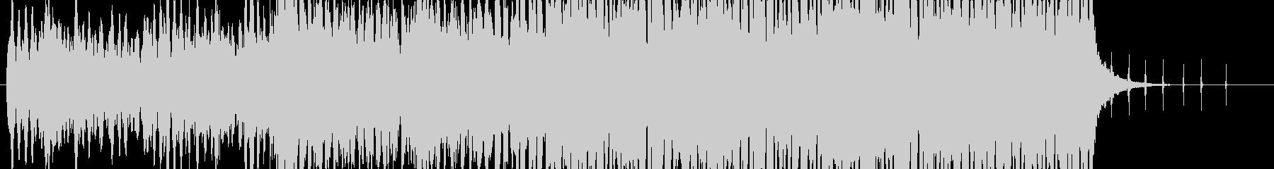 時計の秒針、アナログ音が特徴的な曲の未再生の波形