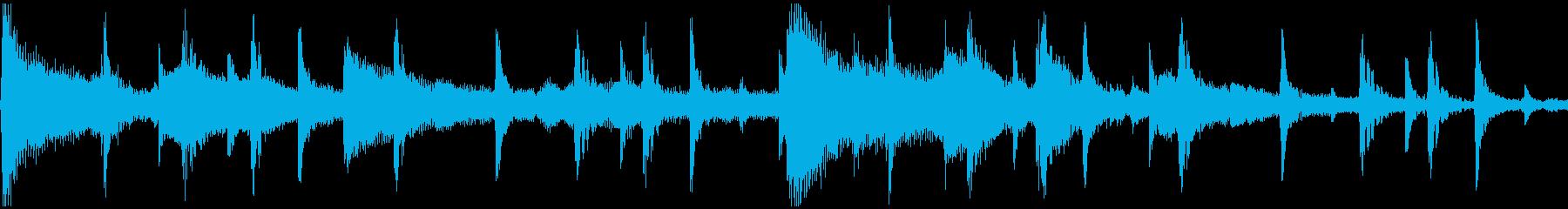 <ショートループ> ピアノ②+ビートBの再生済みの波形