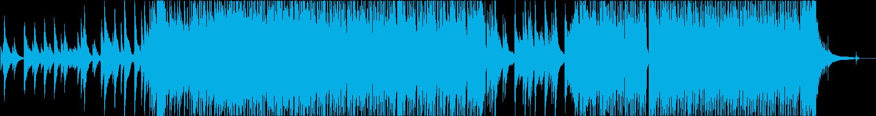 疾走感のあるジャズ+ドラムンベースの再生済みの波形