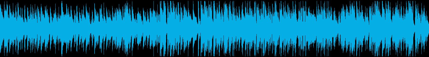 スローテンポなスイングのジャズ※ループ版の再生済みの波形