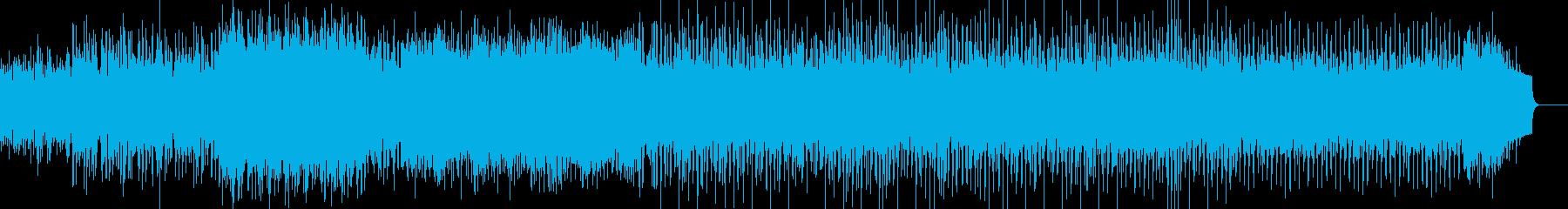 幻想的な曲:木琴 後半から四つ打ちの再生済みの波形