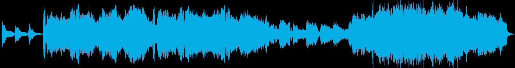 哀愁のある切ないバラードBGMの再生済みの波形