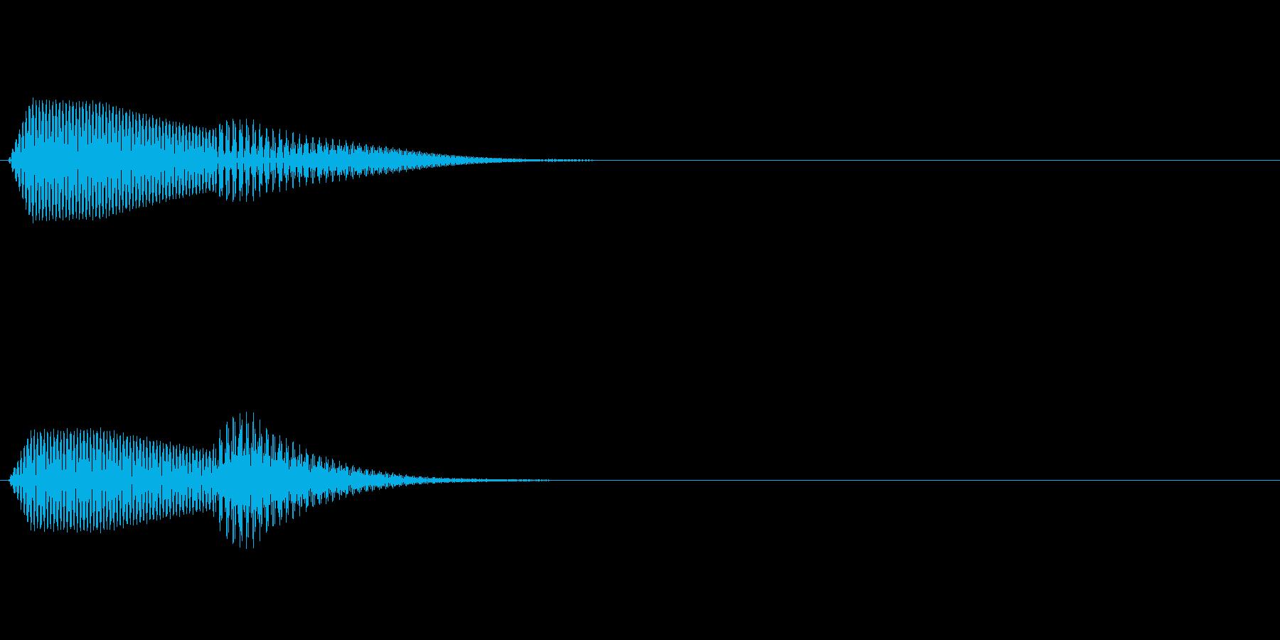 決定/クリック/選択音(ピッ)の再生済みの波形