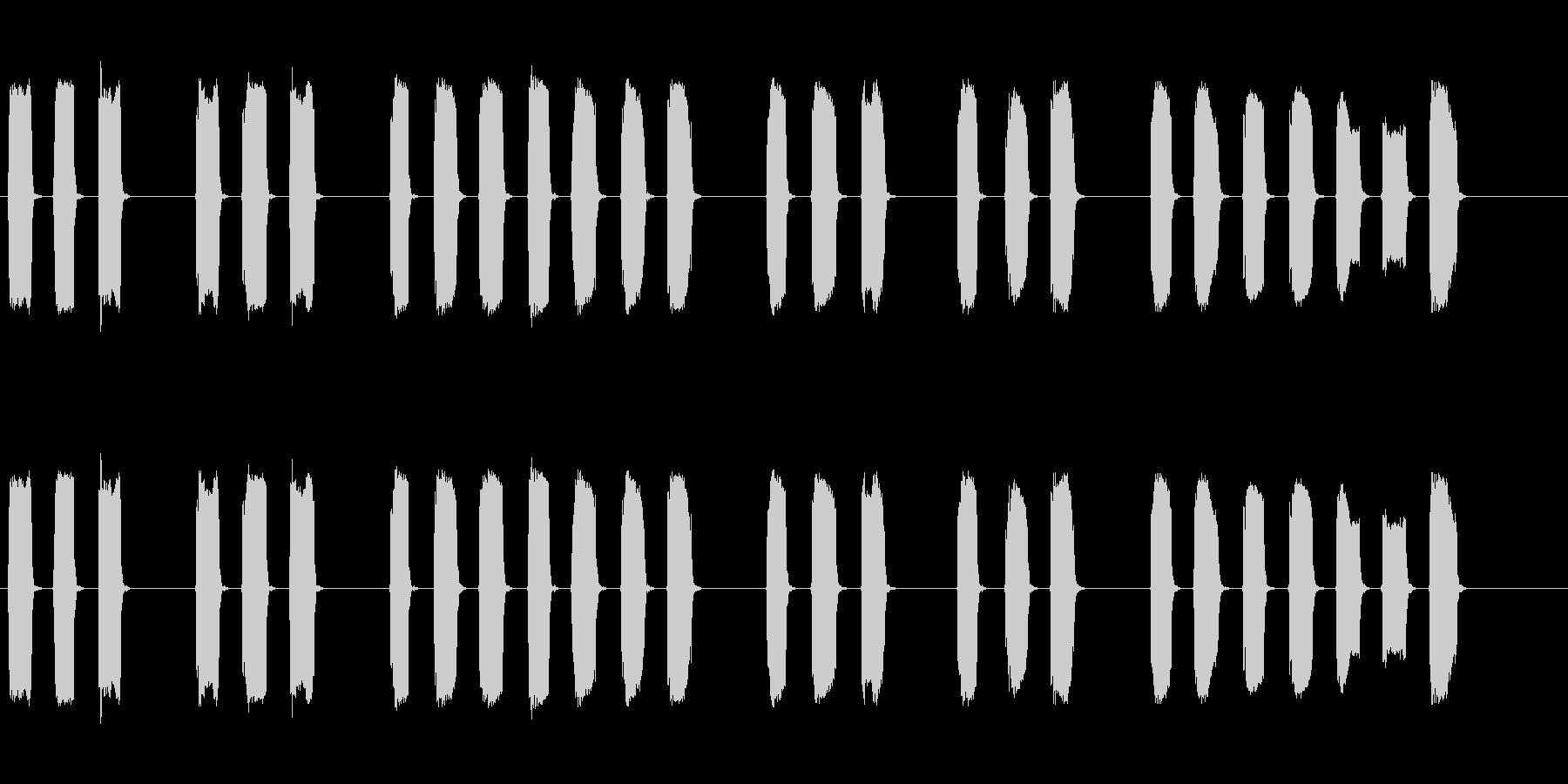 三三七拍子の笛、ホイッスル■ピッピッピッの未再生の波形