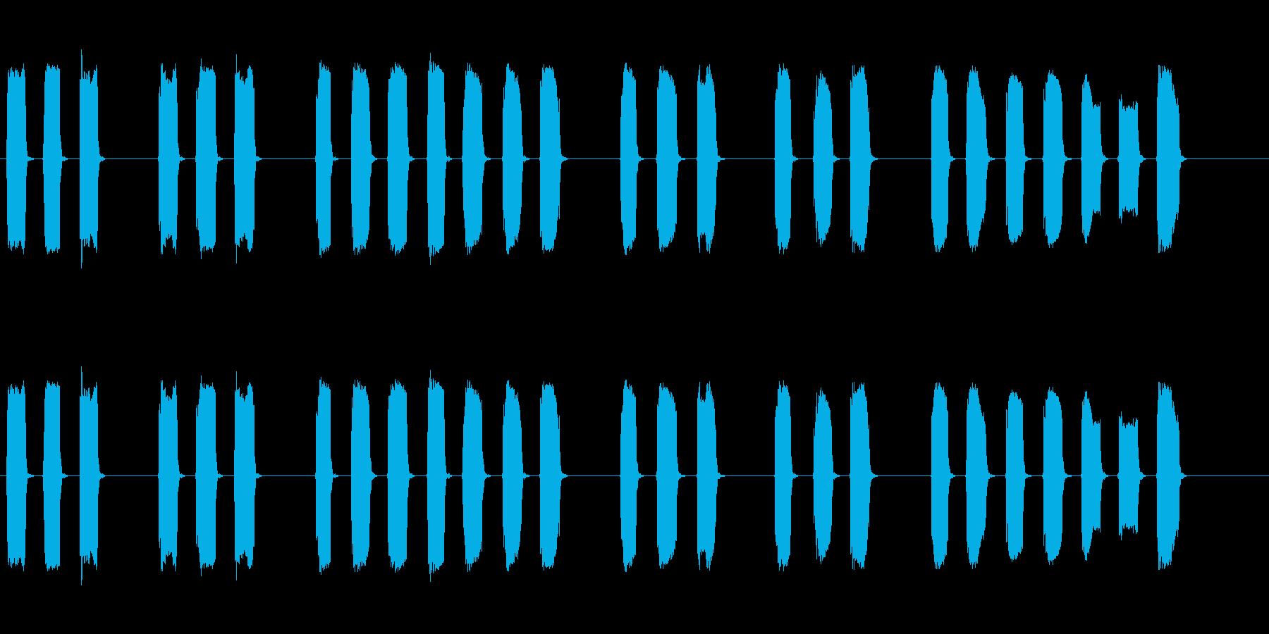 三三七拍子の笛、ホイッスル■ピッピッピッの再生済みの波形