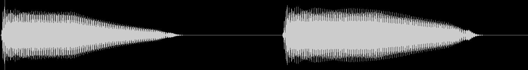 標的捕捉音 Lock アラーム音にもの未再生の波形
