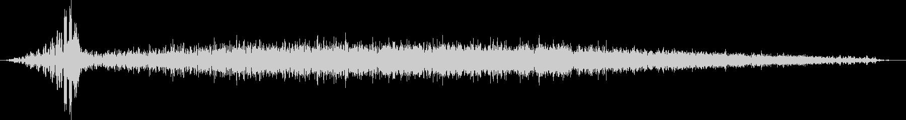 低音フェードインと逆再生の未再生の波形
