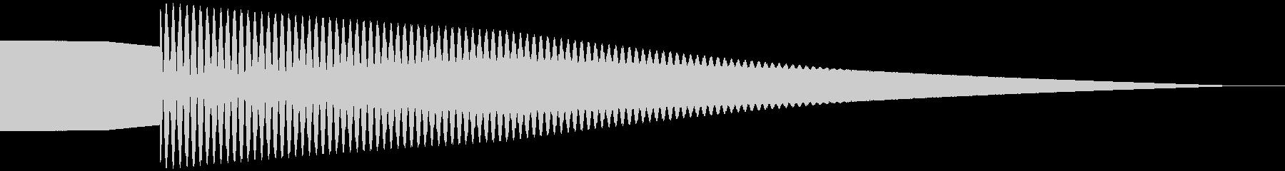 正解音 ピローン (シンプル)の未再生の波形
