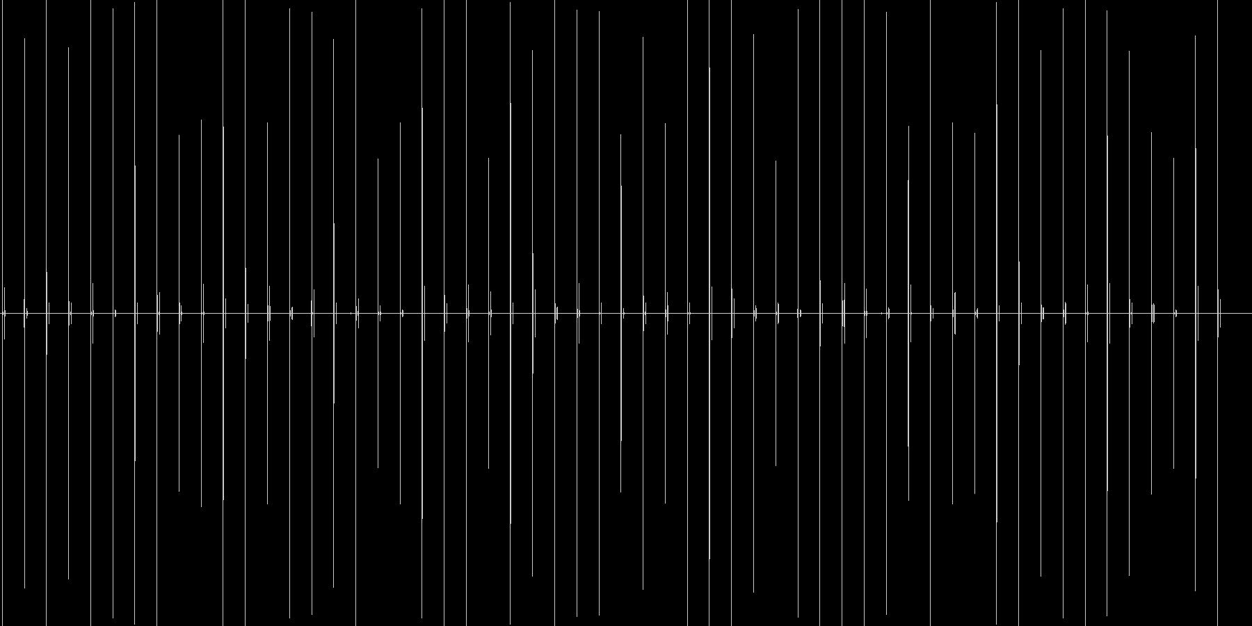 スニーカーで木製の床の上をゆっくり歩く音の未再生の波形