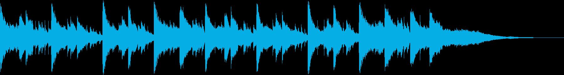 CMに 優しいアコギ&ピアノのBGMの再生済みの波形