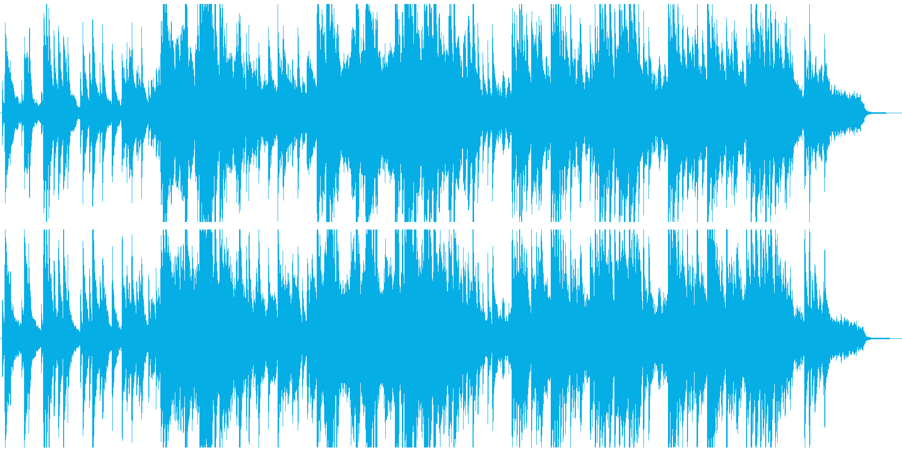 幻想的でとても物悲しい音楽の再生済みの波形