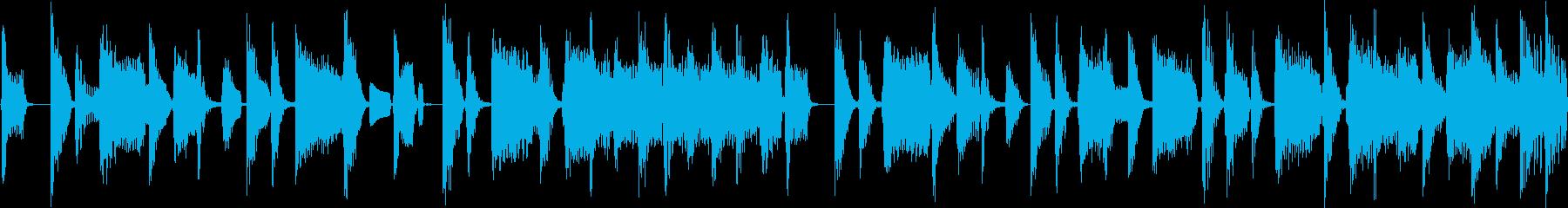 ソウル&ブルース系ダークな雰囲気_ループの再生済みの波形