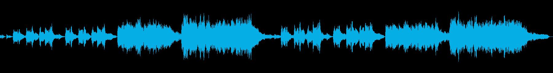 弦楽器の低音の重厚な響きが魅力の曲の再生済みの波形