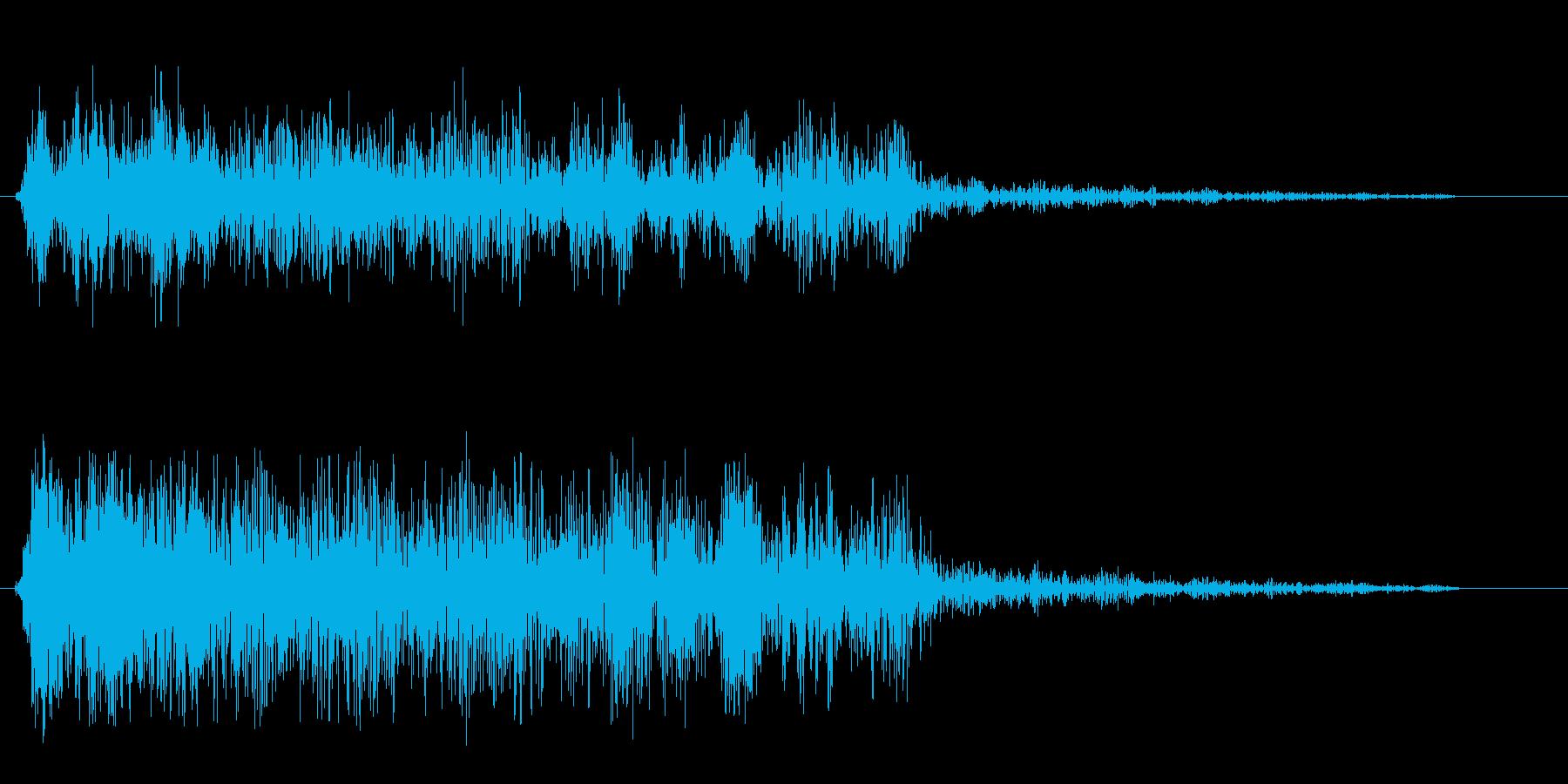 アバァーッ(怪物が吠えるような歪んだ音)の再生済みの波形