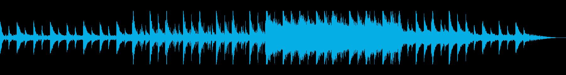 美しく滑らかなストリングのピアノ曲の再生済みの波形