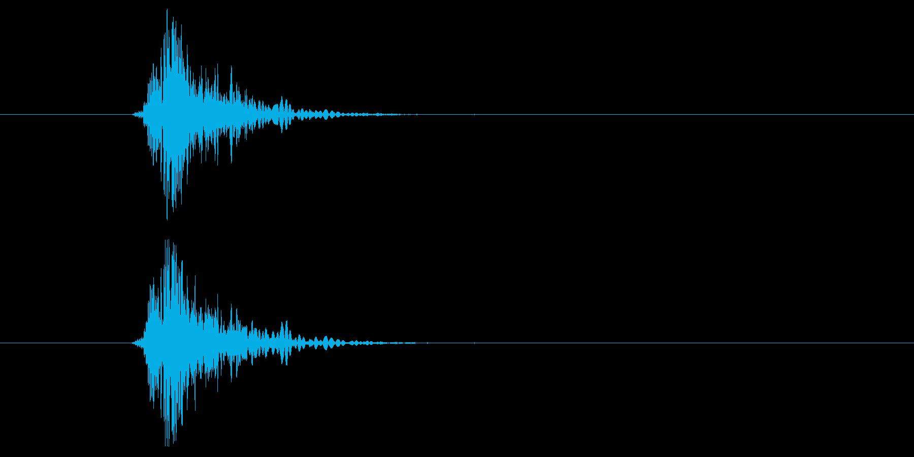 ドン(殴ったときに効果音です)の再生済みの波形