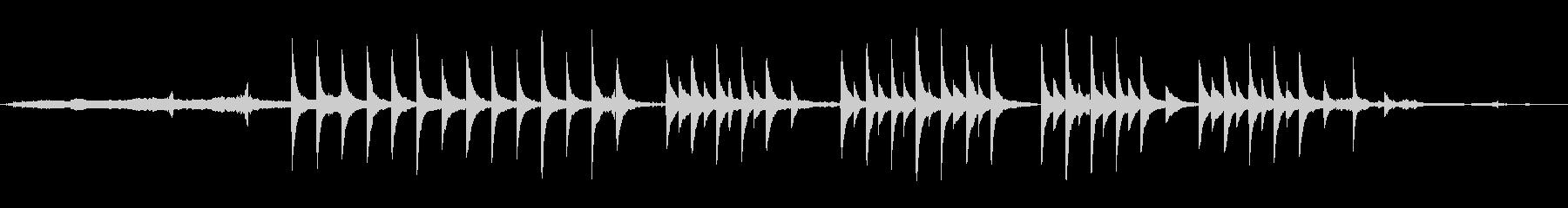 神秘的で浮遊感漂うサティのピアノ曲の未再生の波形