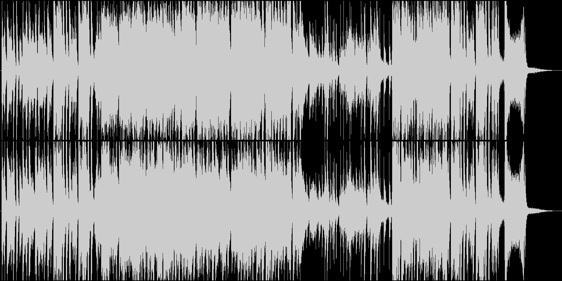 陽気でおしゃれなジャズナンバーの未再生の波形