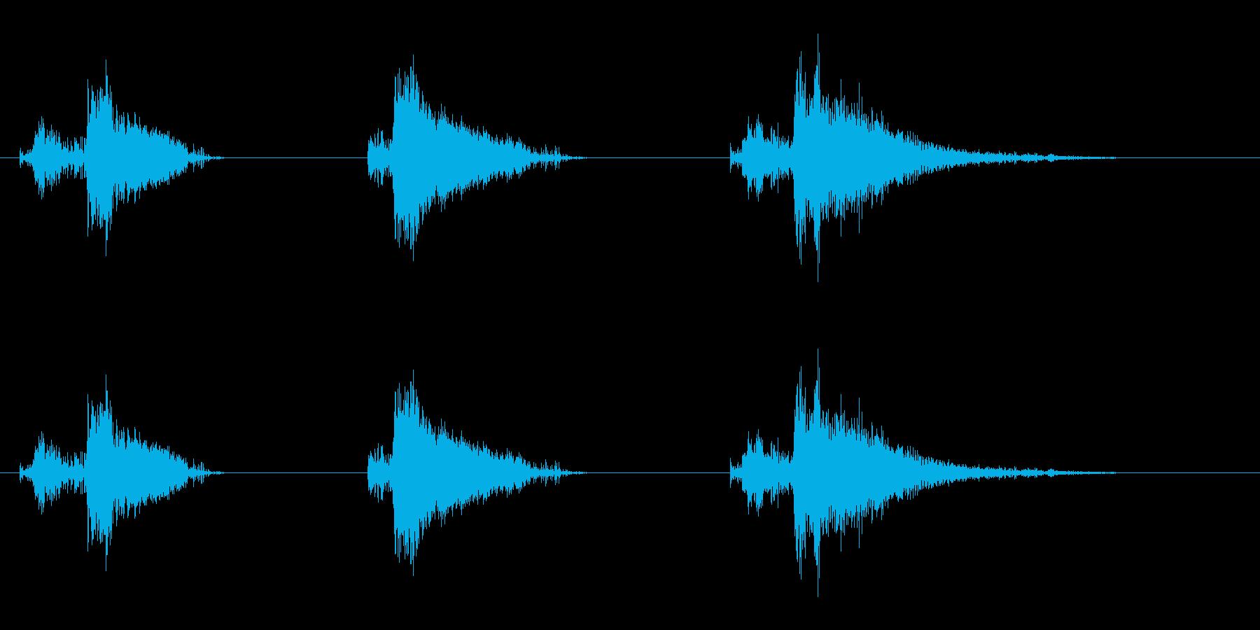 爆発1の再生済みの波形