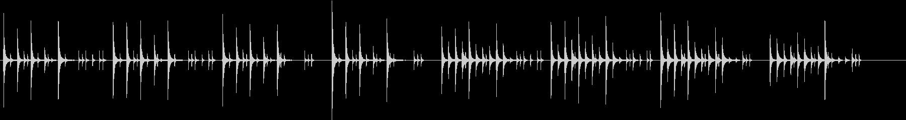 コミカルな曲調で柔らかい雰囲気のジングルの未再生の波形