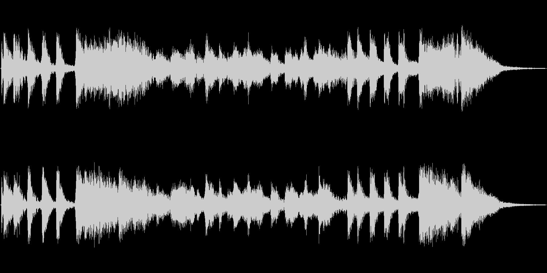ビッグバンドジャズ風のジングルの未再生の波形
