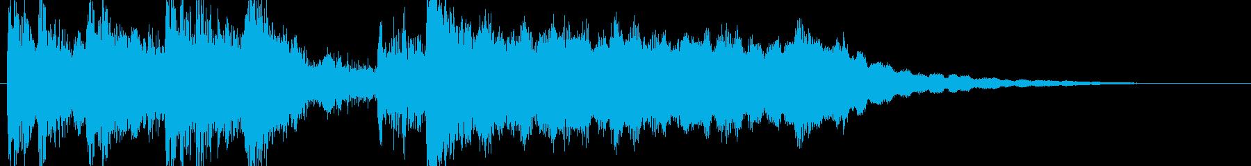 高音質♪和琴笛ジングル・アイキャッチの再生済みの波形