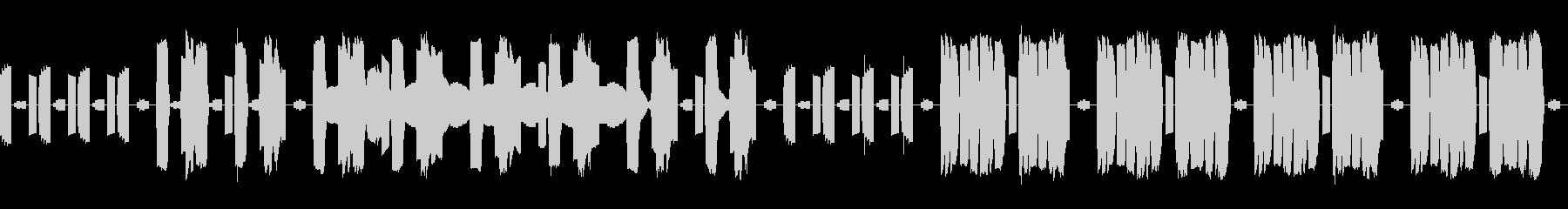 FC風音源によるバラード、ループ仕様の未再生の波形