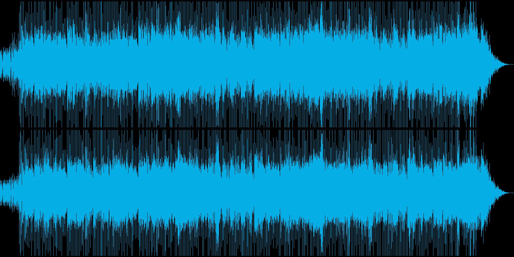 あわただしさ、忙しさのある場面用BGMの再生済みの波形