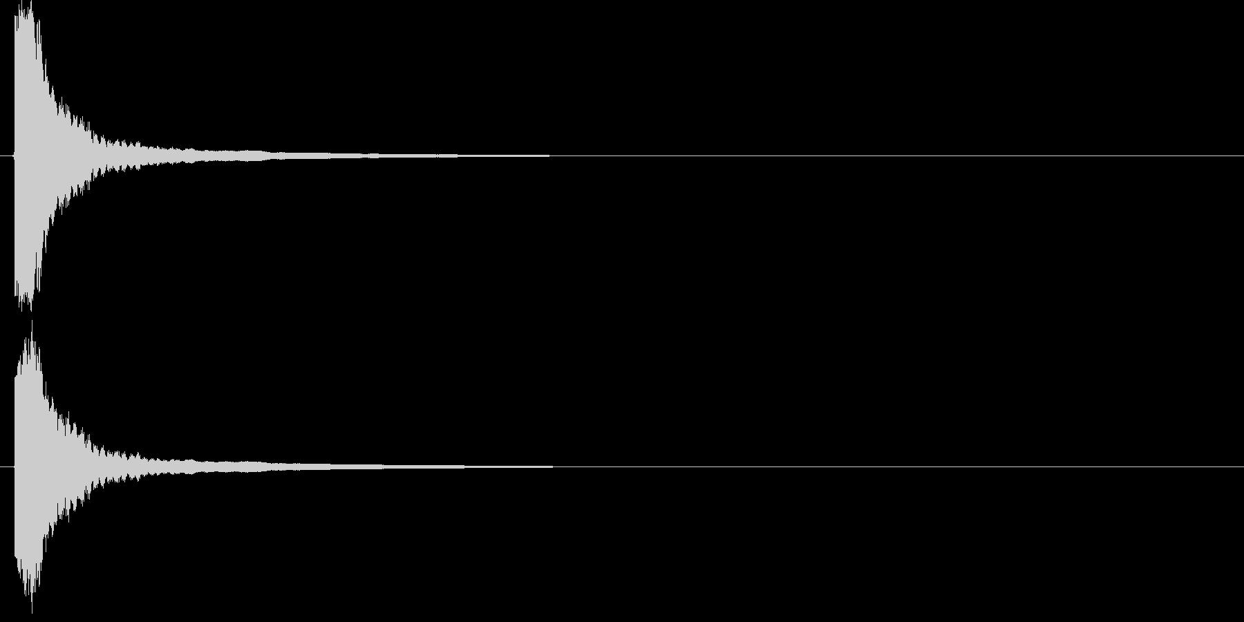 【刀剣:金属】ヒット・軽く2の未再生の波形