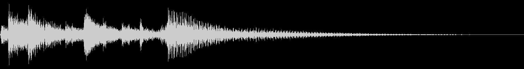月琴で演奏された和風のメロショットの未再生の波形