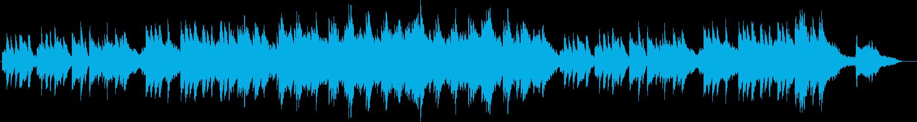 上品でしっとりとした皇室用ピアノbの再生済みの波形