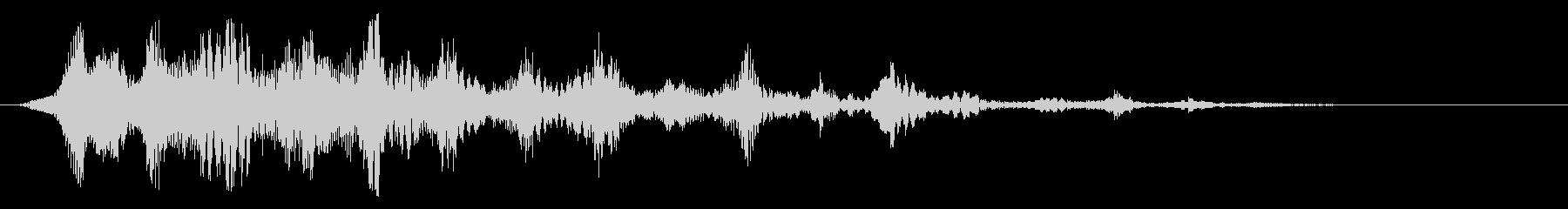 ブヮヮヮーンと響くスペース音の未再生の波形