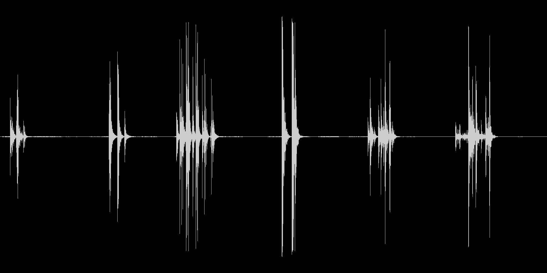 ゴールドバーバウンスムーブメントの未再生の波形