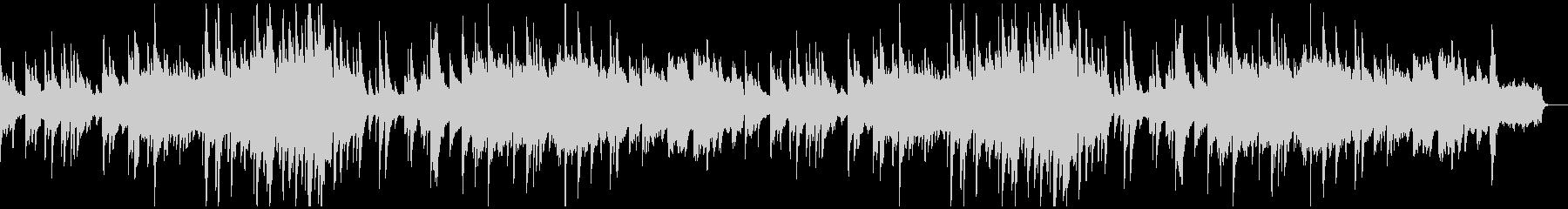 優しい旋律のピアノバラードの未再生の波形