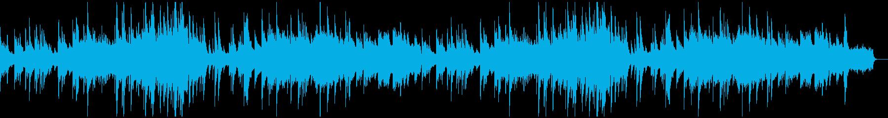 優しい旋律のピアノバラードの再生済みの波形