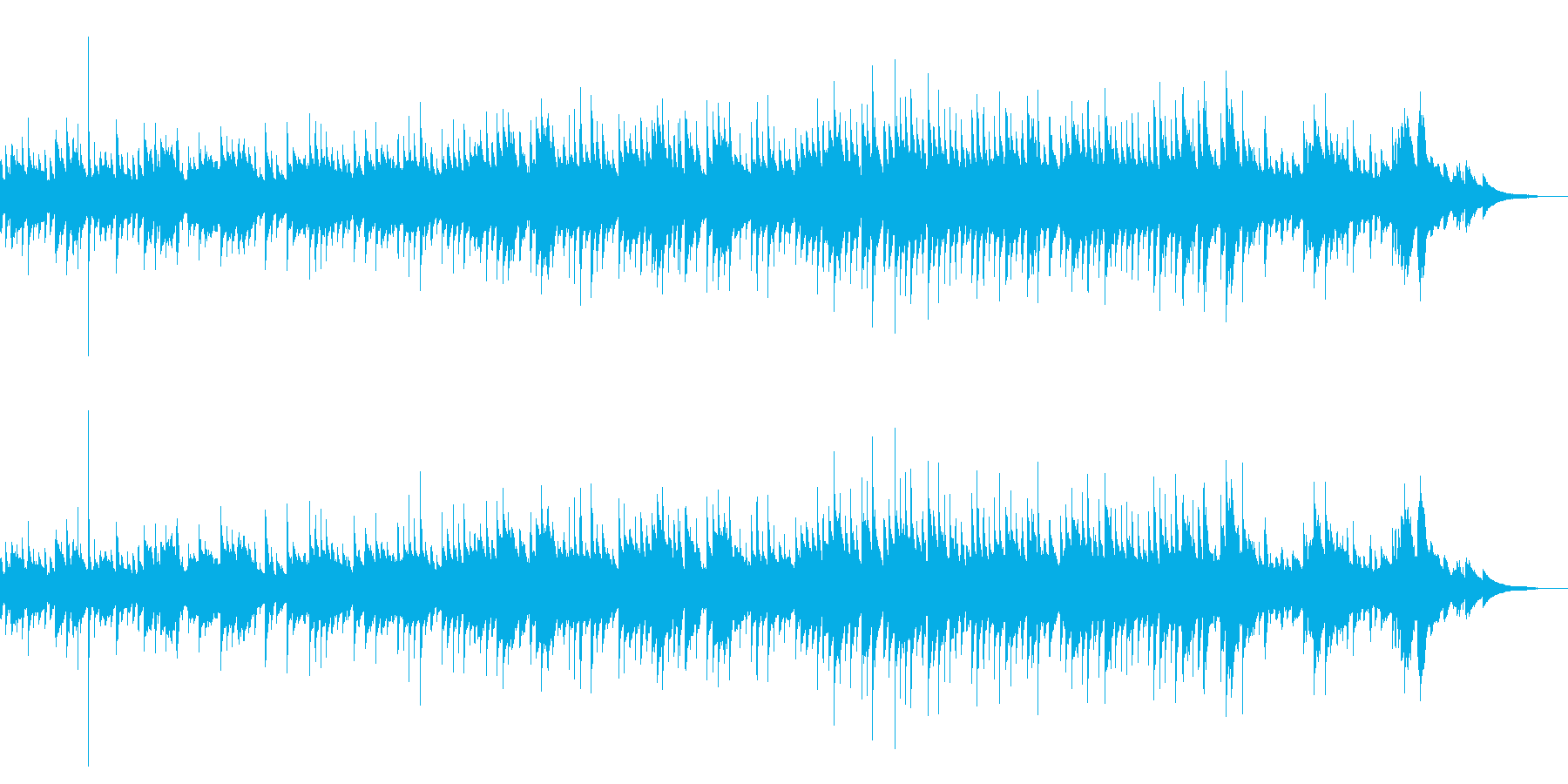 アコギの優しくて穏やかな曲の再生済みの波形