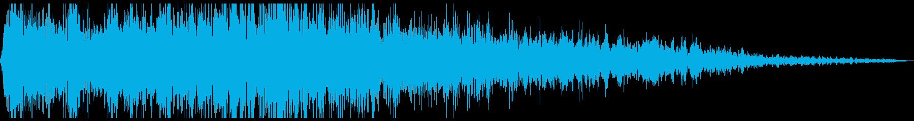 恐ろしい影響の再生済みの波形