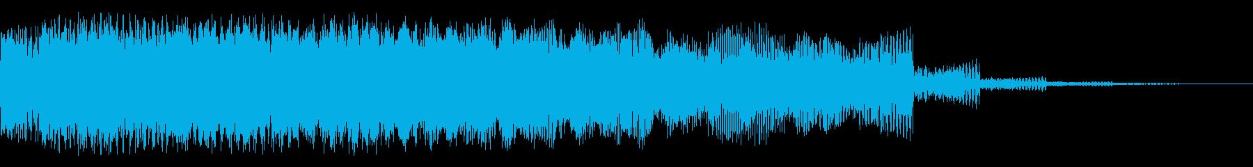 ピアススイープアクセントの再生済みの波形